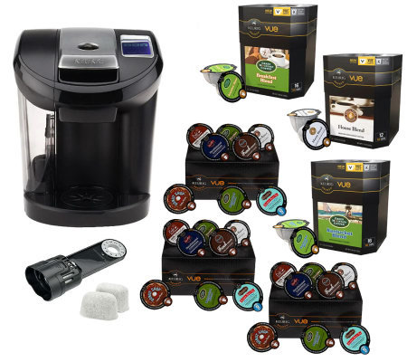 Keurig Vue V600 Coffee Maker w/ 74 Vue Packs & Water Filter