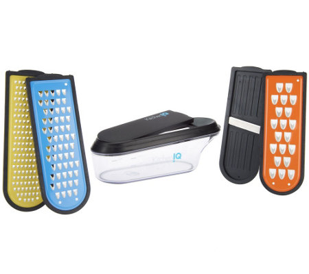 Kitchen IQ 4 Blade Non-Stick Container Grater