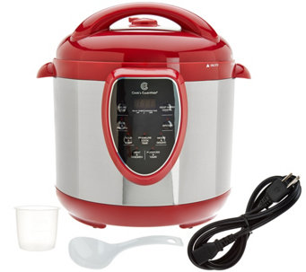 CooksEssentials 8 qt. S/S Digital Pressure Cooker w/ Accessories - K43840