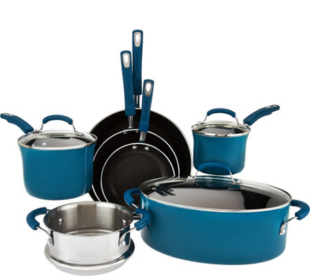 Rachael Ray 10-pc Gradient Porcelain Enamel Cookware Set