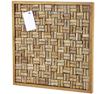 Wine Enthusiast Large Cork Board Kit - Maple Stain - K302241