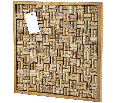 Wine Enthusiast Large Cork Board Kit - Maple Stain