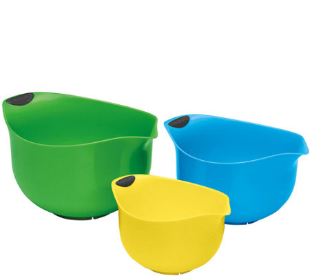 Cuisinart 3-Piece Plastic Mixing Bowl Set