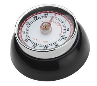 Magnetic 55 Minute Retro Steel Kitchen Timer - K35541