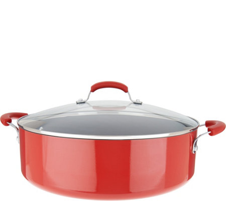Rachael Ray 10qt Porcelain Enamel Covered Family Pan