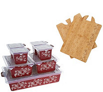 Temp-tations Floral Lace 9-piece Prep to Perfect Bake Set - K46941