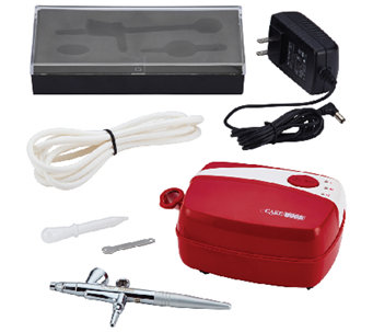 Cake Boss Decorating Tools Airbrushing Kit, Red - K303542
