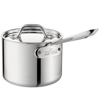 All-Clad Stainless 3-qt Saucepan with Lid - K304842