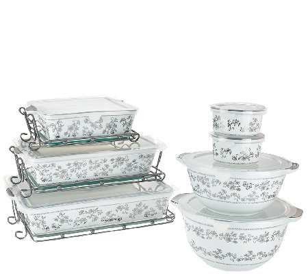 Temp-tations Elite 14-piece Metallic Porcelain Bake Set