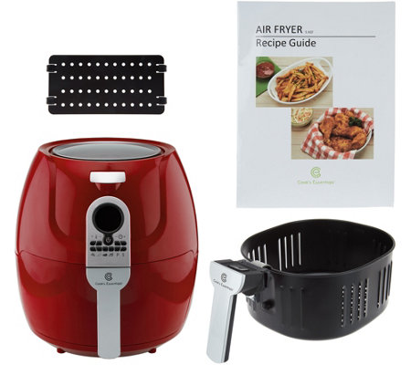 CooksEssentials 5.3qt Digital Air Fryer w/ 6 Presets & Divider