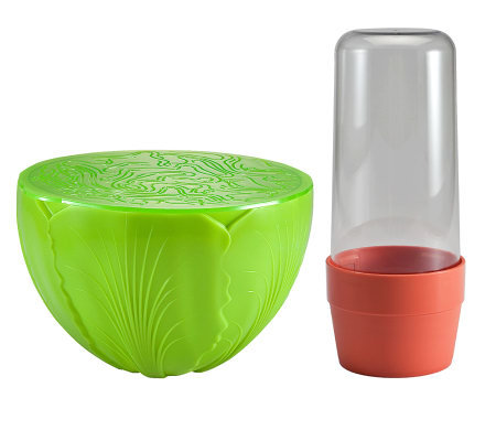 Gourmac Herb Saver and Salad Saver Set