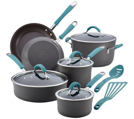 Rachael Ray Cucina Hard-Anodized 12-Piece Cookware Set
