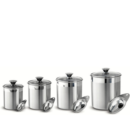 Tramontina Gourmet 8-Piece Canister & Scoops Set