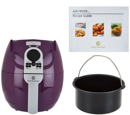 Cook's Essentials 3-qt Digital Air Fryer with Presets & Pan