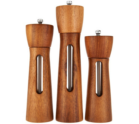 Rachael Ray Set of 3 Acacia Wood Grinders
