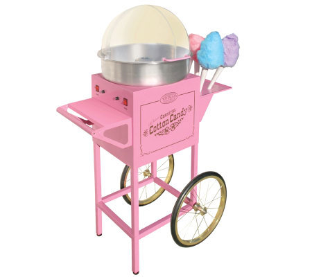 Nostalgia Electrics Old Fashioned Cotton Candy Cart