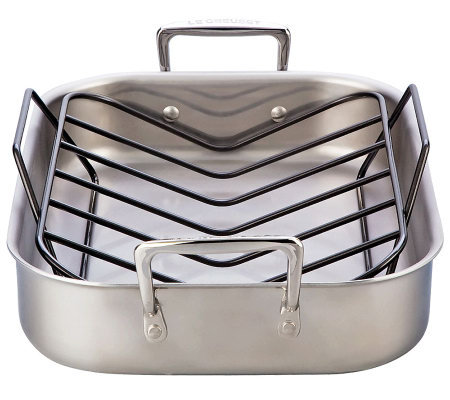 "Le Creuset Stainless Steel 14"" x 11"" Small Roasting Pan"