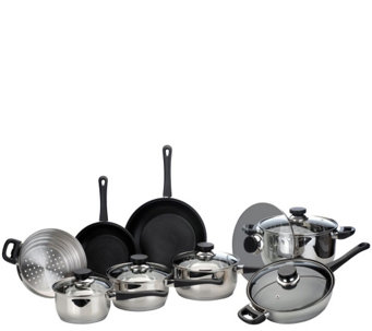 BergHOFF CooknCo 14-Piece Stainless Steel Cookware Set - K304744