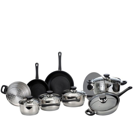 BergHOFF CooknCo 14-Piece Stainless Steel Cookware Set