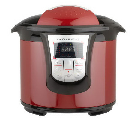 CooksEssentials 6qt. Digital Pressure Cooker w/Hinged Lid & Accessories