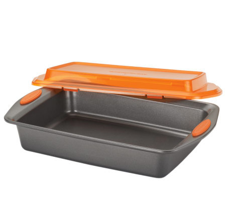 "Rachael Ray 9"" x 13"" Covered Cake Pan"