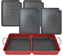 """As Is"" Cooks Essentials 7 pc BBQ GrillPan with/ Removable Nonstick Plates - K307345"