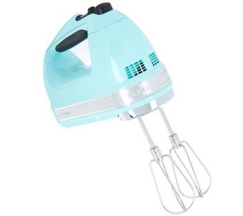 kitchenaid 9speed digital hand mixer with whisk u0026 blender rod k46545 - Kitchen Aid Hand Mixer