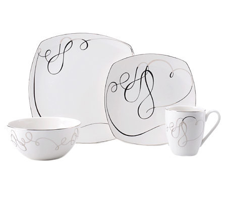 Mikasa Love Story Square 4-Piece Place Setting