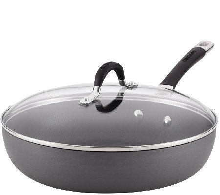 "Circulon Momentum Hard-Anodized 12"" Covered Deep Skillet"