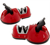 Sharp Shark Set of 2 Countertop 2 Stage Knife Sharpeners - K43546