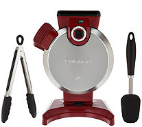 Cuisinart Vertical Waffle Maker with Spatula and Tongs - K44647