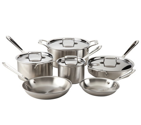 All-Clad Brushed Stainless Steel 10-Piece Set