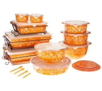 Temp-tations Floral Lace 24-piece Oven-to-Table Set - K39348