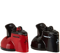 Sharp Shark Set of 2 Countertop Knife & Scissor Sharpeners - K43548