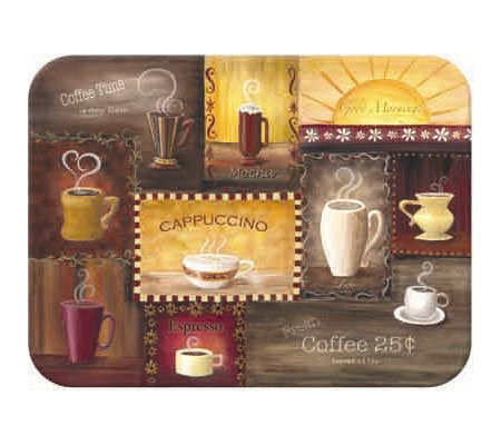 "Tuftop ""Coffee Time"" Tempered Glass Kitchen Board"