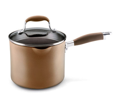 Anolon Advanced 3.5 Qt Covered Straining Saucepan