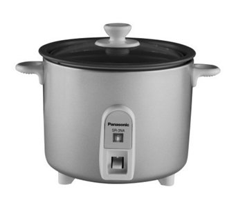 Panasonic  1.5 cup Mini Rice Cooker with GlassLid - Silver - K126049