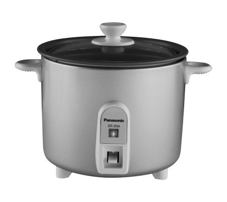 Panasonic  1.5 cup Mini Rice Cooker with GlassLid - Silver