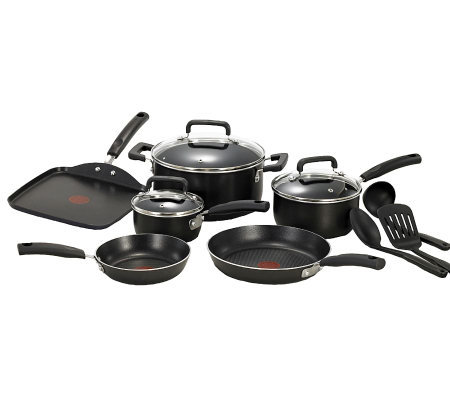 T-Fal Signature 12-Piece Cookware Set - Black