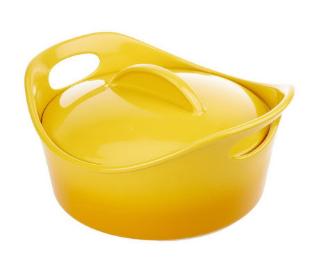 Rachael Ray Gradient Bubble & Brown 2.5 qt. Round Covered Baker