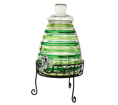 beehive shaped beverage dispenser with stand - Beverage Dispenser With Stand