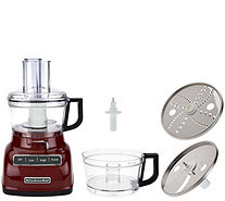 kitchenaid 9 cup exactslice food processor with julienne disc. kitchenaid 7-cup exactslice food processor w/ extra bowl - k44549 kitchenaid 9 cup exactslice with julienne disc 1