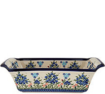 Lidia's Polish Pottery Hand Painted Loaf Pan - K45749