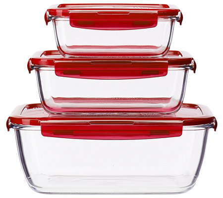 Lock & Lock 3-piece Nesting Glass Set
