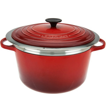Le Creuset 6.5qt Cast Iron Dutch Oven with Steamer Basket - K44850