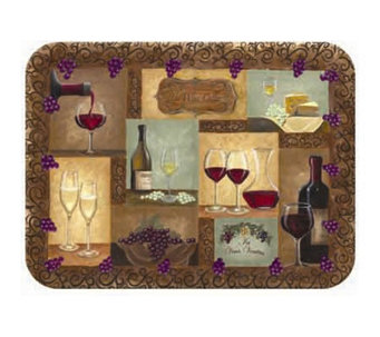 "Tuftop ""Wine Cellar"" Tempered Glass Kitchen Board - K125451"