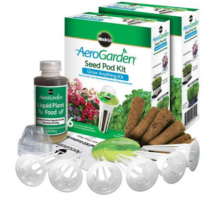 Miracle-Gro AeroGarden S/2 6-Pod Grow Anything Seed Pod Kits