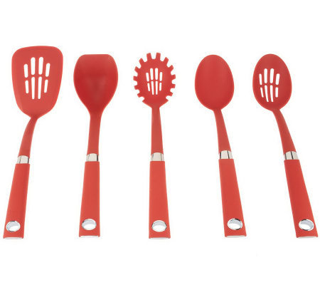 Rachael Ray 5-Piece Nylon Tool Set with Stainless Steel Accents