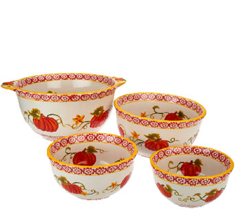 Temp-tations S/4 Pumpkin Patch Concentric Bowls - K42251