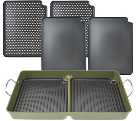 Cook's Essentials 7-pc BBQ Grill Pan with Removable Nonstick Plates
